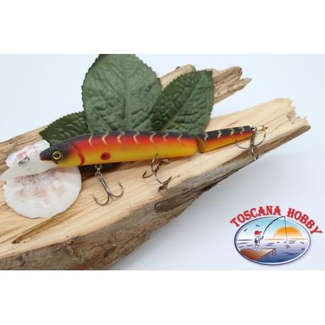 Señuelos artificiales de la Víbora de la cola articulado de 12cm-14gr Flotante col. naranja FC.V280