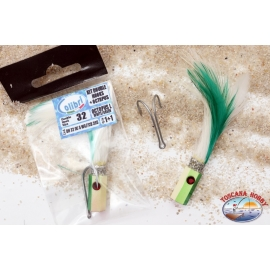 Lures trolling, Hummingbird, Kit, double hook/octopus feathered, size 32