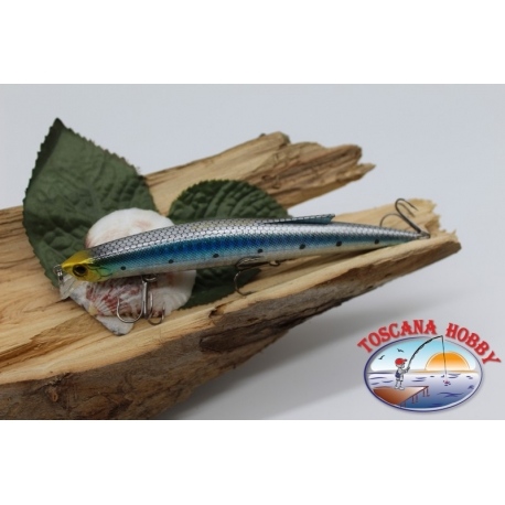 Künstliche Minnow Jerk Viper 12,5 cm-13,5 gr Meer Floating col.silber/blau FC.V294