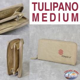 Women's wallet Eco-sustainable - Vegan-friendly - Mod. TULIP MEDIUM - Fund 9 MAIN