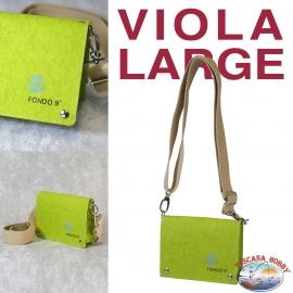 Borsa Donna Eco-sostenibile - Vegan-friendly - Mod. VIOLA LARGE - Fondo 9 PRINCIPALE