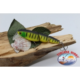 Minnow jointed 3 piece Viper 9,5 cm-18gr Floating col.yellow striped FC.V307