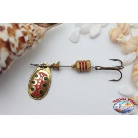 Teaspoons Fishing, Mepps Aglia, pallet rotating color gold, mis. 1 R. 208