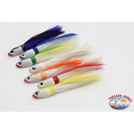 """Trolling bait: anchovy head with 7.5 cm feather"""" Simil """" SIM.03"""