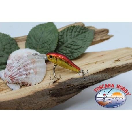 Künstliche Micro Shad Viper 3,5 cm-2,5 gr (strom ziehend) mit. fisch rot KF.V320