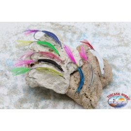 Craft hook for 4.5 cm coastal trolling with feathers R. 508