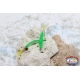 4.5 cm coastal trolling craft nail with feather-Green