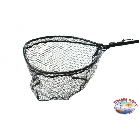 Garbolino folding rubber mesh with hook and magnet-open