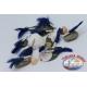 10 agudos ganchos montados con plumas y los filamentos, VMC con anilla tamaño 3/0 FC.AC55