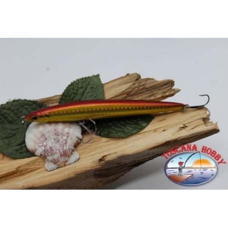 Künstliche Lipless Jerk Viper 12,5 cm, 22gr (strom ziehend) mit. fisch rot KF.V346