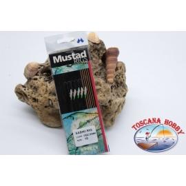 Sabiki Mustad olografico filo 0,30 lunghezza 135cm 5 ami mis.10 FC.A99
