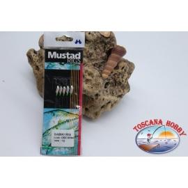 Sabiki Mustad olografico filo 0,30 lunghezza 135cm 5 ami mis.12 FC.A100