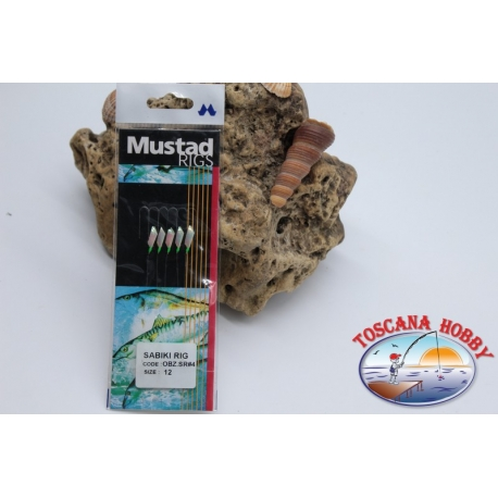 Sabiki Mustad holographic wire 0,30 length 135cm 5 ami mis.12 FC.A100