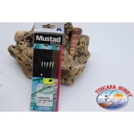 Sabiki Mustad olografico filo 0,30 lunghezza 135cm 5 ami mis.14 FC.A101