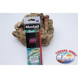 Sabiki Mustad fil rose 0,30 longueur 135cm 5 ami sim.8 FC.A102