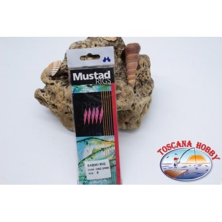 Sabiki Mustad cable rosa 0,30 longitud de 135 cm 5 ami mis.8 FC.A102