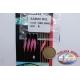 Sabiki Mustad rosa filo 0,30 lunghezza 135cm 5 ami mis.8 FC.A102