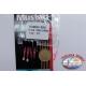 Sabiki Mustad pink wire 0,30 length 135cm 5 ami mis.10 FC.A103