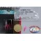 Sabiki Mustad pink wire 0,30 length 135cm 5 ami mis.12 FC.A104