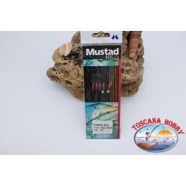Sabiki Mustad fil rose 0,30 longueur 135cm 5 ami sim.14 FC.A105