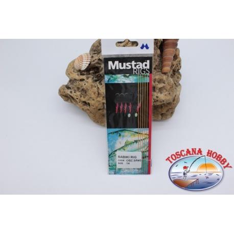 Sabiki Mustad cable rosa 0,30 longitud de 135 cm 5 ami mis.14 FC.A105