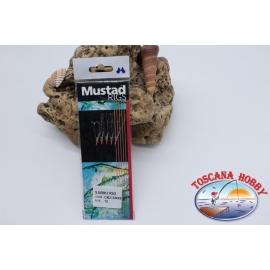 Sabiki Mustad con pelle di pesce filo 0,30 lunghezza 135cm 5 ami mis.12 FC.A108