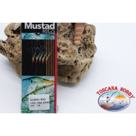 Sabiki Mustad with fish skin wire 0,30 length 135cm 5 ami mis.14 FC.A109