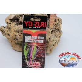 Sabiki Yo-zuri multicolor filo 0,35 lunghezza 135cm 5 ami mis.5 FC.A110