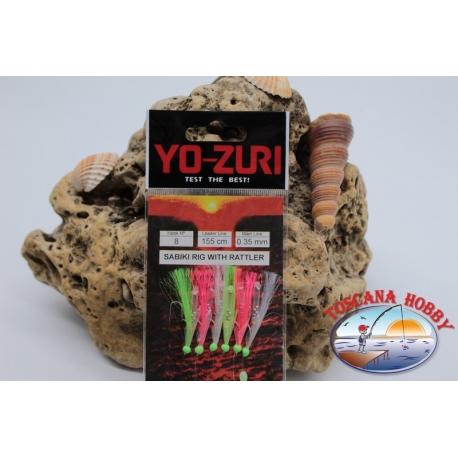 Sabiki Yo-zuri with fish skin wire 0,35 length 135cm 5 ami mis.8 FC.A111