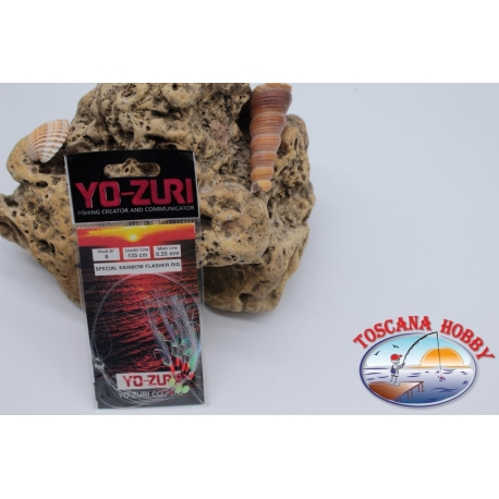 Sabiki Yo-zuri holographic wire 0,35 length 135cm 6 ami mis.6 FC.A114