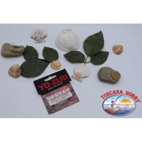 3 lenze da bolentino Yo-zuri madre 0,40 brac. 0,30mm 3 ami mis.8 lung.1m FC.304