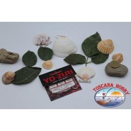 3 bustine lenze bolentino Yo-zuri madre0,45 brac.0,35mm 3ami sz.2 lung.1m FC.306