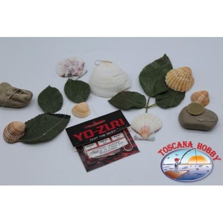 3 lenze da bolentino Yo-zuri madre 0,45 brac. 0,35mm 3 ami mis.2 lung.1m FC.306