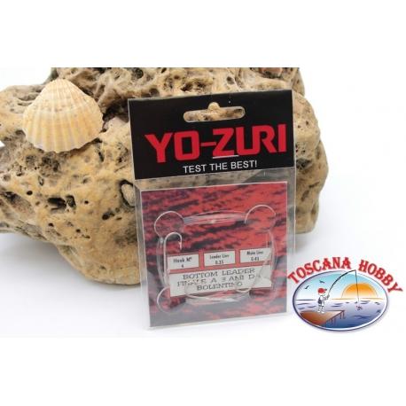 3 lenze da bolentino Yo-zuri madre 0,45 brac. 0,35mm 3 ami mis.4 lung.1m FC.309