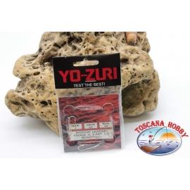 3 sachets lenze grundangeln Yo-zuri madre0,45 brac.0,35 mm 3ami sz.5 lung.1m FC.310