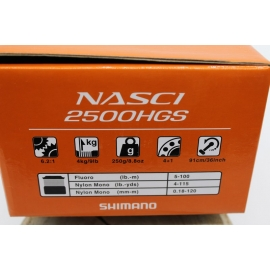 Mulinello Shimano  Nasci 2500HGS Spinning FC.M5
