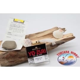Cabeza emplumada con saltones ojos de Yo-zuri depredador 10 cm col. blanca FC.P126