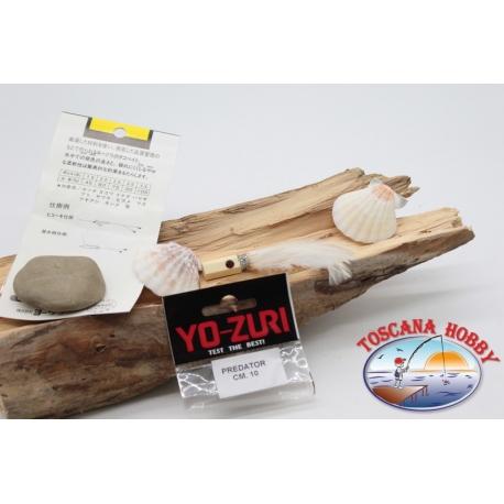 Kopf gefiederten mit äuglein, Yo-zuri predator 10 cm col. white FC.P126