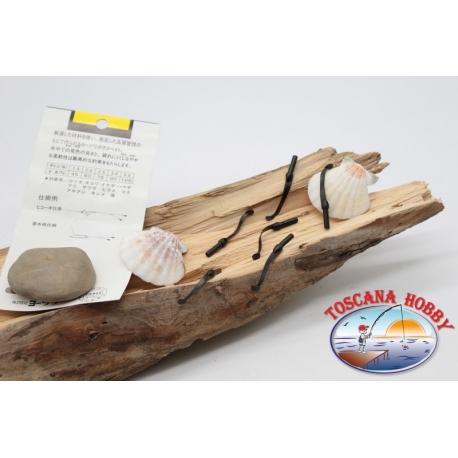 Pack de 10 anguilline ragloo Mepps 4.5 cm col. negro FC.P129