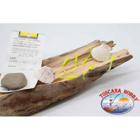 Pack de 10 anguilline ragloo Mepps 4.5 cm col. amarillo FC.P130