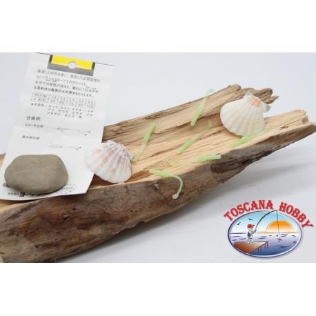 Pack de 10 anguilline ragloo Mepps 4.5 cm col. verde FC.P132