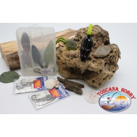 Box assorted with frogs and mice silicone Yo-zuri 14cm + Mustad FC.S42