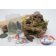 Box assorted with frogs and mice silicone Yo-zuri 14cm + Mustad FC.S43