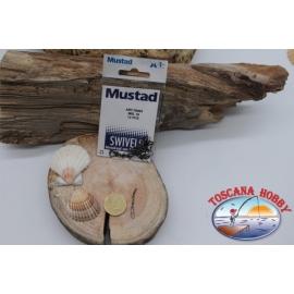 1 Bustina da 12 pz. di moschettoni Mustad serie 70053 sz. 18 FC.G18