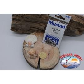 1 Bustina da 12 pz. di moschettoni Mustad serie 77551 sz. 11 FC.G19