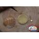 1 Paquete de 12 unidades. mosquetones de la Mosca de la serie 77552 de oro sz. 16 FC.G48