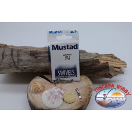 1 Packet of 4 pcs. of swivels hook Mustad series 77557 sz.2 FC.G83