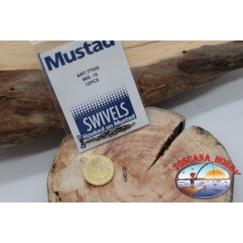 1 Sachet, 12 pcs. of swivels Mustad series 77500 sz.16 FC.G92