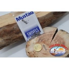 1 Bag of 6 pcs. hooks and quick-release Mustad series 77562 sz. 2 FC.G94