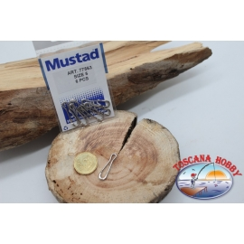 1 Bag of 6 pcs. hooks and quick-release Mustad series 77563 sz. 5 FC.G97